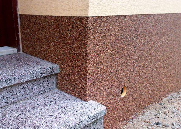 Камешковая штукатурка (фото): состав, виды, правила нанесения