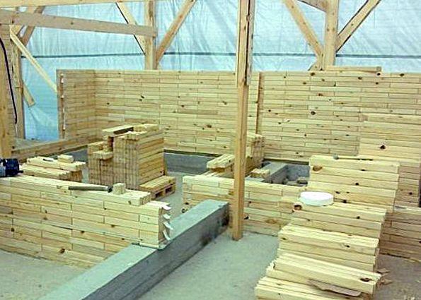 Кирпич из дерева (фото): состав и свойства, преимущества и недостатки, особенности строительства