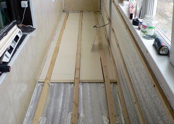 Укладываем деревянный пол на балконе своими руками