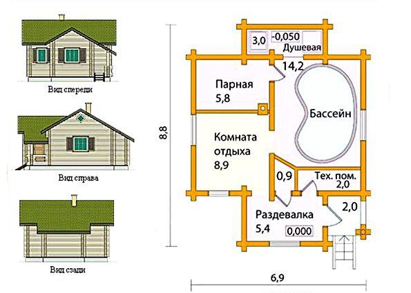 Как построить баню своими руками: выбор места, материала, нюансы проектирования, этапы монтажа