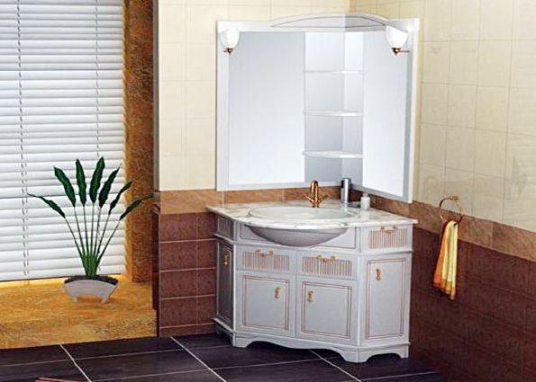Мебель для маленькой ванной комнаты (фото)