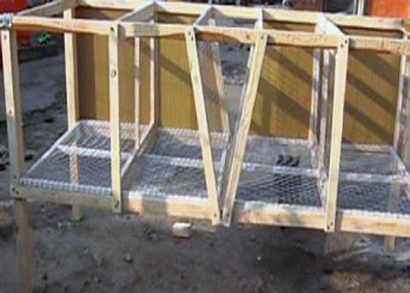 Клетки для кроликов по Золотухину: конструкция, размеры, этапы монтажа