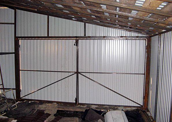 Металлическая крыша гаража своими руками 735