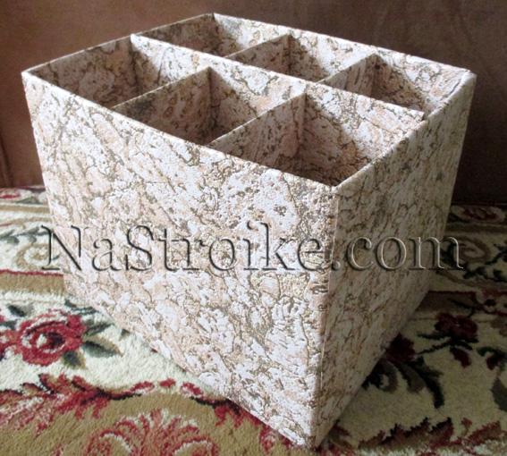 Как сделать в коробке перегородки из картона