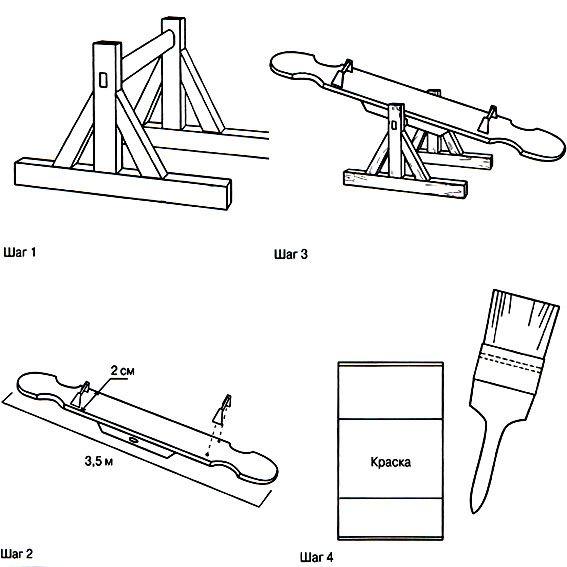Как сделать качели балансир своими руками чертежи