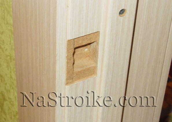 Установка дверных ручек на межкомнатных дверей