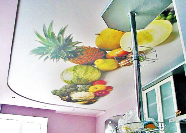 Натяжные потолки с фотопечатью (фото): особенности нанесения, тематика, выбор стиля и размера