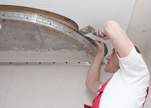 Как сделать двухъярусные натяжные потолки