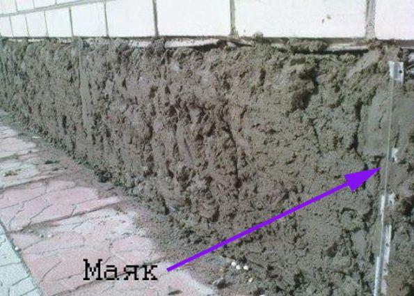 Оштукатуривания цоколя цементными растворами купить вибратор для бетона украина