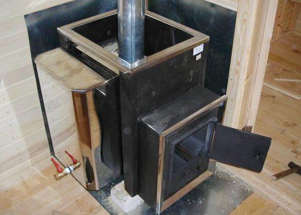 Установка печей в баню своими руками фото