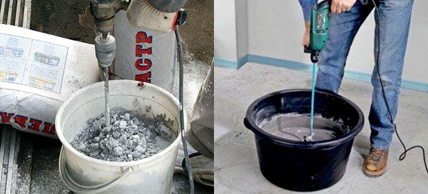 Перемешивание бетона перфоратором купить бетон в щелково с завода
