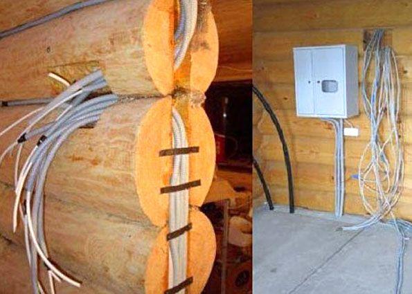 Как сделать проводку в деревянном доме своими руками
