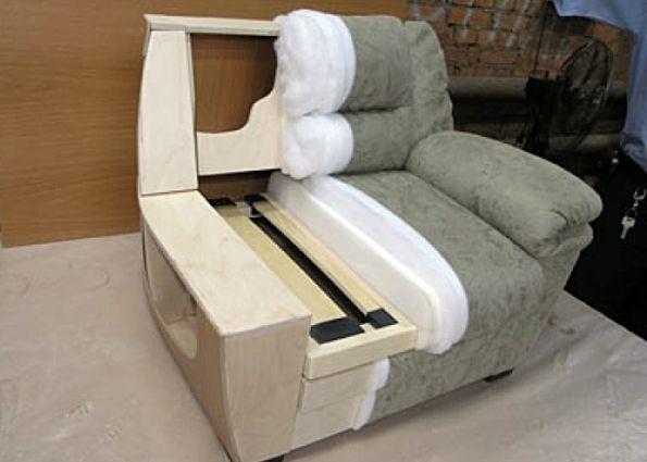 Как сделать кресло мягкое своими руками видео