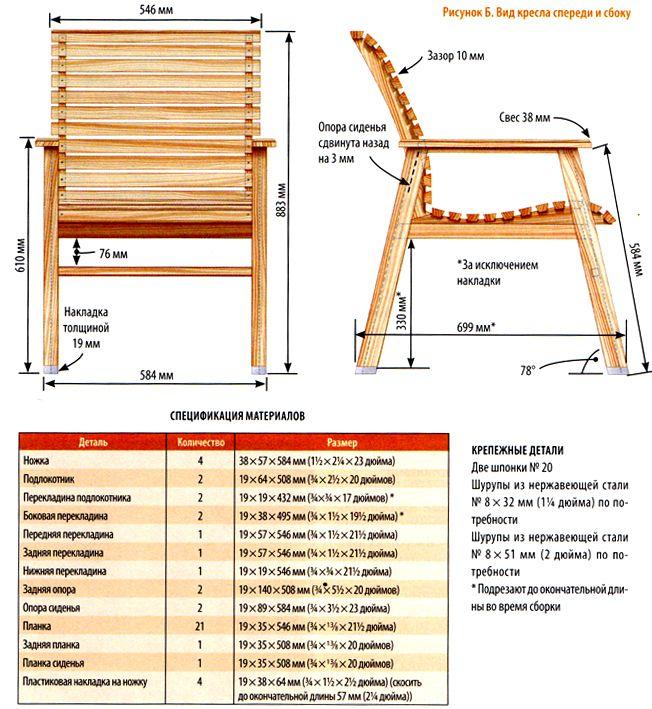 Как сделать кресло из дерева своими руками
