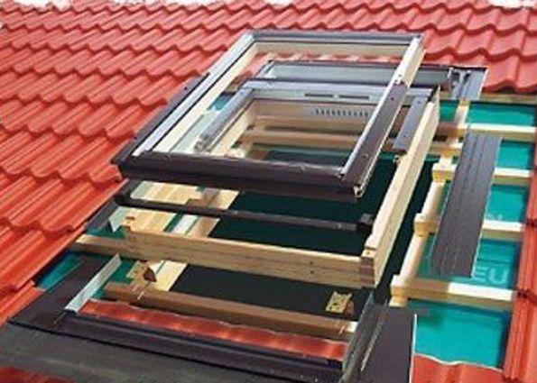 Слуховое окно на крыше конструкция чертеж