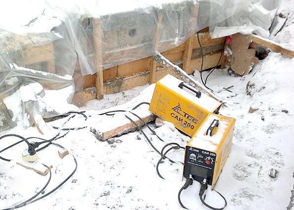 Заливка бетона зимой своими руками 26