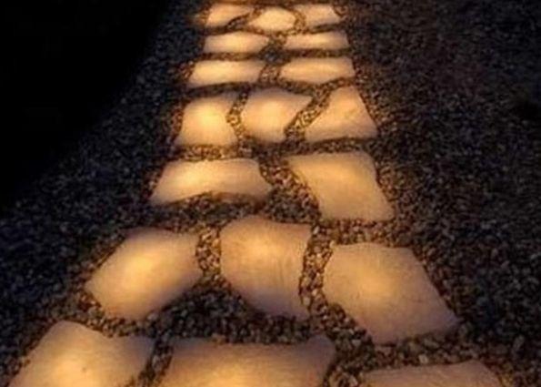Светящаяся тротуарная плитка (фото): виды, особенности эксплуатации и укладки