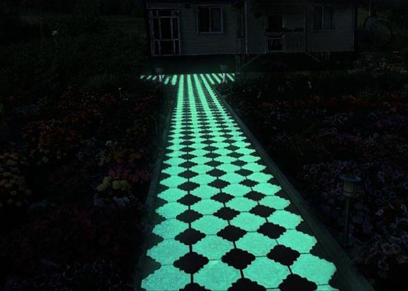 Светящийся тротуарная плитка своими руками 80