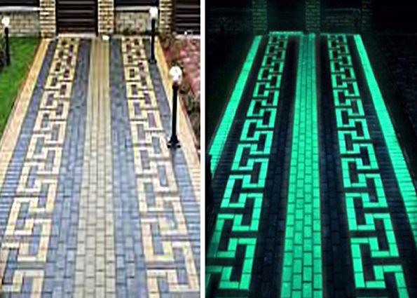 светящаяся тротуарная плитка фото