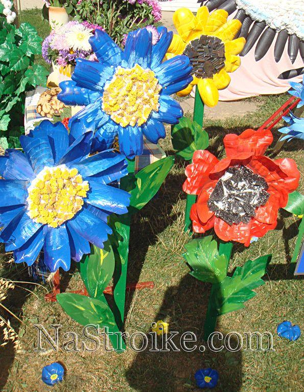 Несколько идей как сделать цветы своими руками из различных материалов