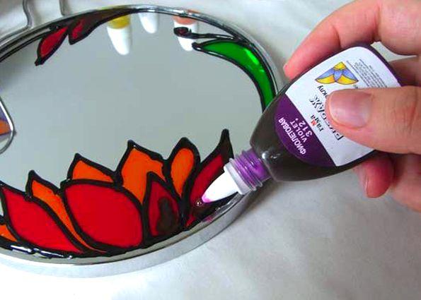 Как сделать витражными красками