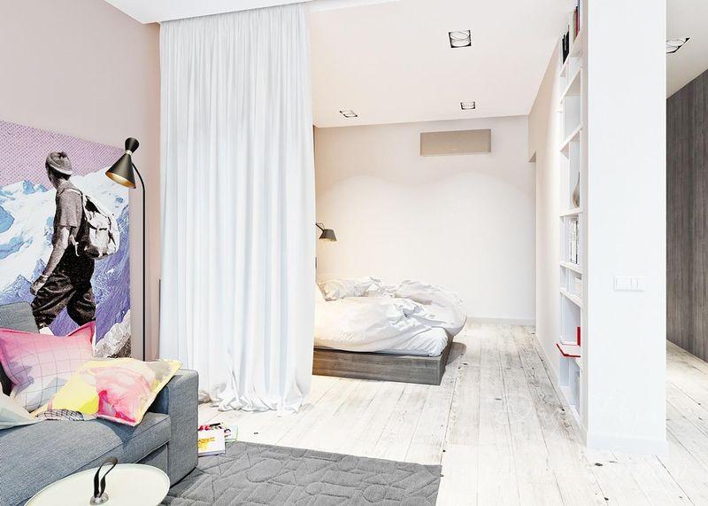 6 видов перегородок для зонирования комнаты