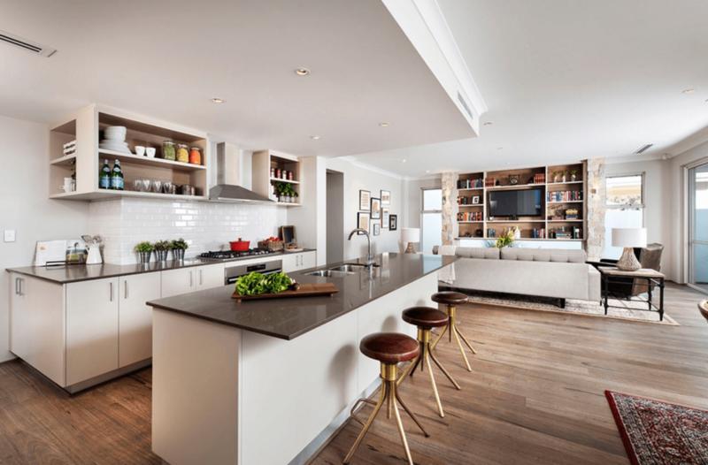 Открытая планировка кухня гостиная