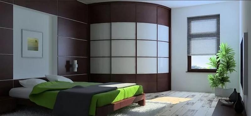 шкафы купе в интерьере гостиной