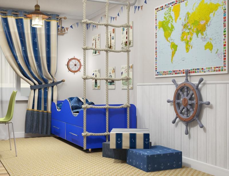 Морской стиль в интерьере (фото): особенности и детали