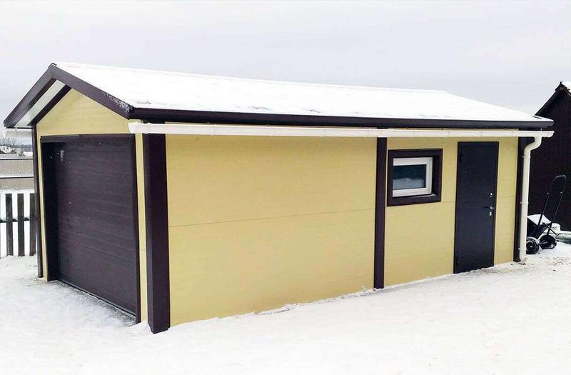 Построить гараж своими руками недорого 6 9 из сэндвич панелей 43