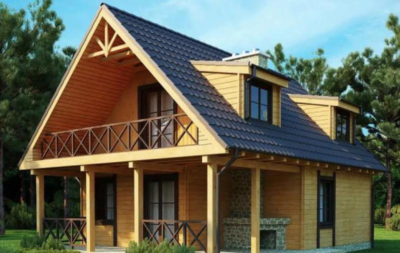 виды двухскатной крыши