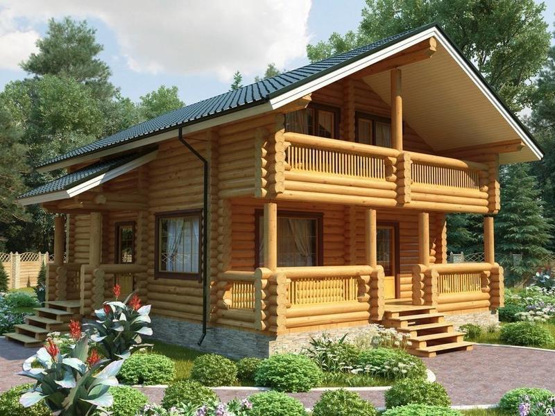 Дом из оцилиндрованного бревна (фото): особенности строительства, плюсы
