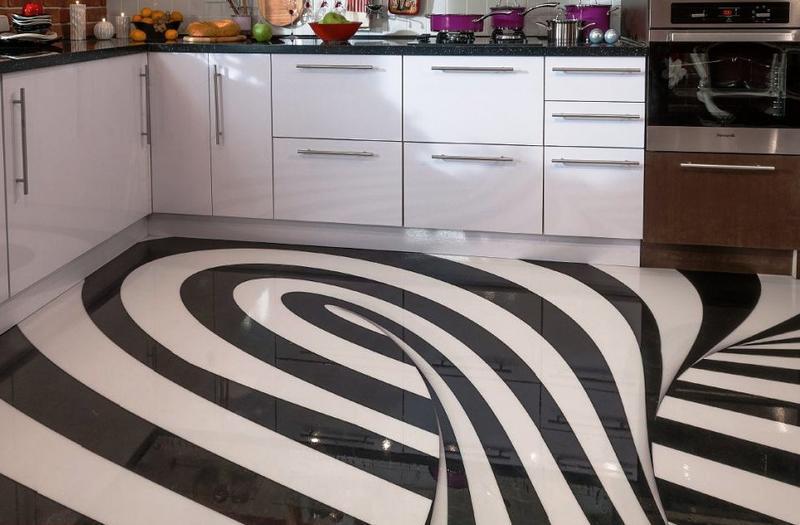 Жидкий линолеум: почему стоит выбрать это напольное покрытие для кухни?