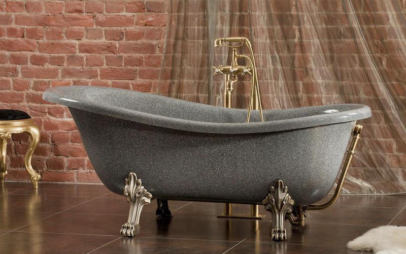Ванна из литьевого мрамора: советы по выбору, плюсы и минусы