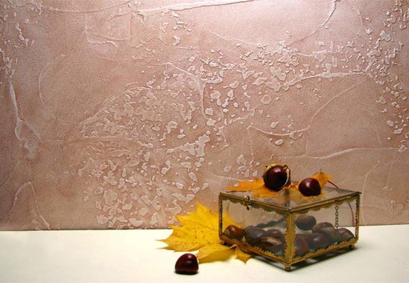 Фактурная краска для стен (фото): виды, технология нанесения, плюсы и минусы