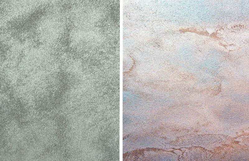Декоративная краска для стен с эффектом песка: виды, преимущества и недостатки, техника нанесения