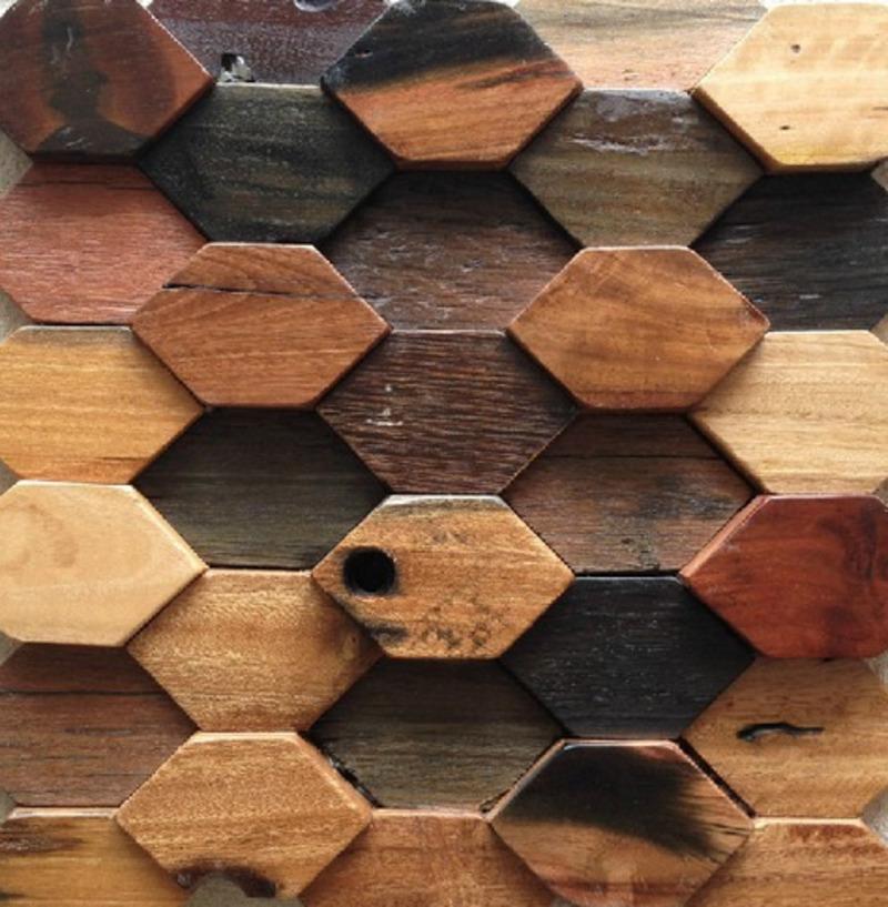 Деревянная мозаика для стен: область применения, плюсы и минусы, монтаж, фото интерьеров