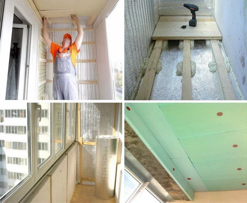 Утепление балкона с панорамным остеклением своими руками