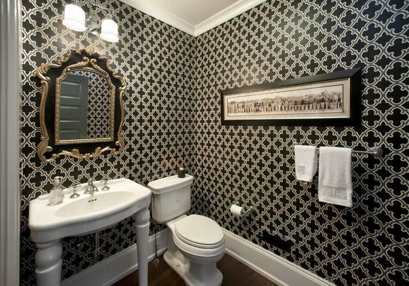 Выбираем обои для ванной комнаты (фото): виды обоев, их преимущества и недостатки