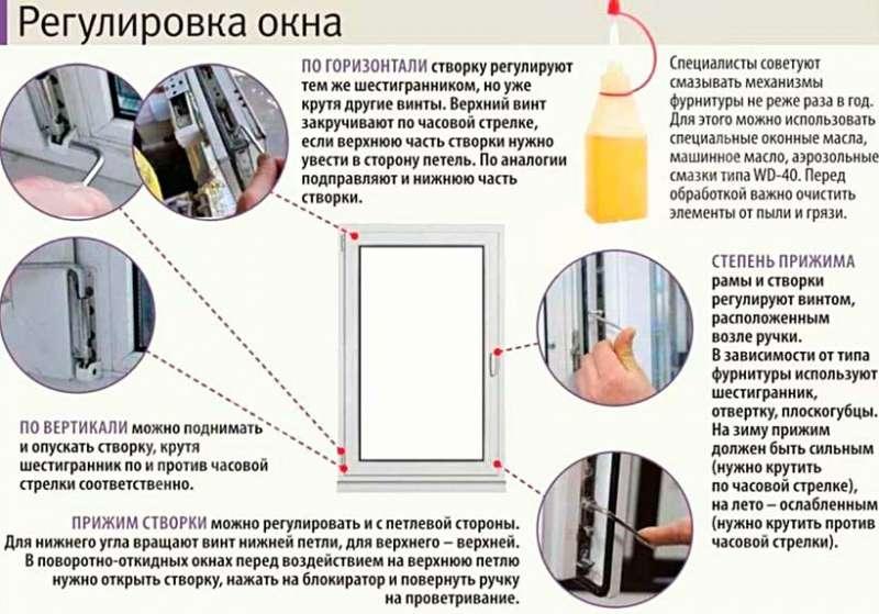 Правила регулировки пластиковых окон своими руками: простота и удобство пользования