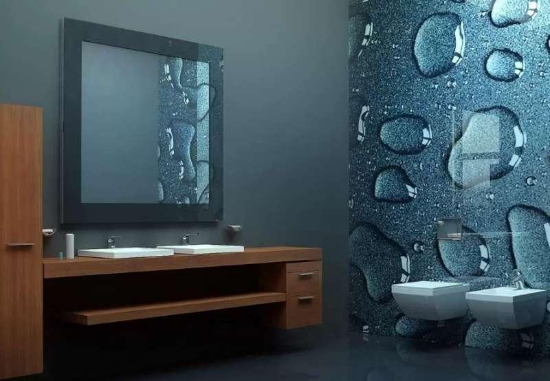 3 Д панели в ванной 3