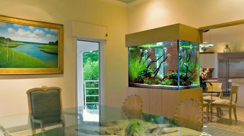аквариум в интерьере